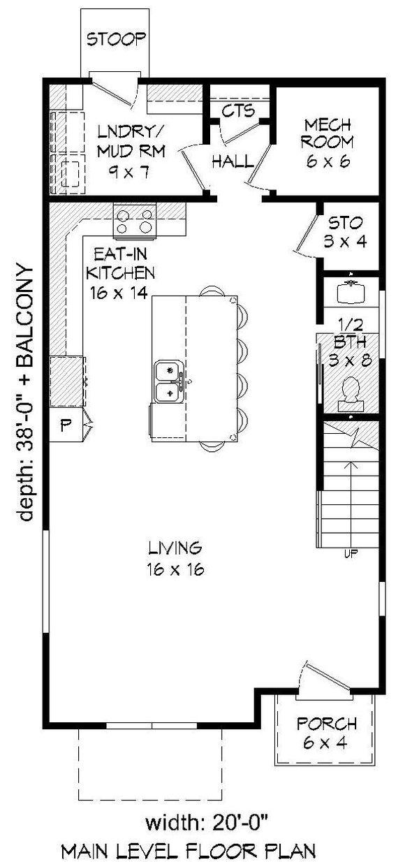 House Plan Design - Contemporary Floor Plan - Main Floor Plan #932-243