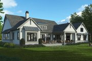 Farmhouse Style House Plan - 3 Beds 2.5 Baths 2412 Sq/Ft Plan #928-325 Exterior - Rear Elevation