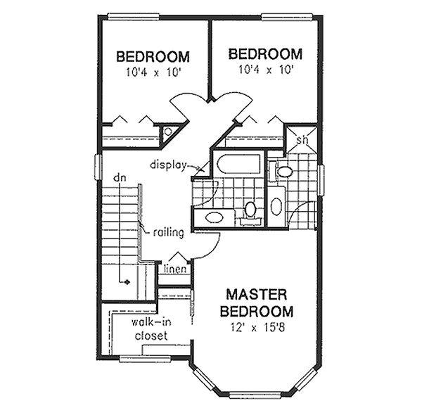 House Design - Farmhouse Floor Plan - Upper Floor Plan #18-280