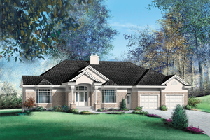 Traditional Exterior - Front Elevation Plan #25-1239