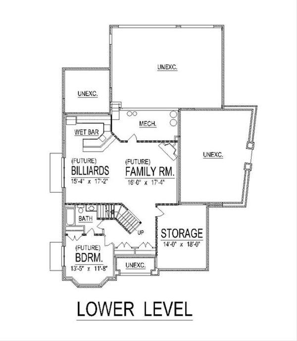 European Floor Plan - Lower Floor Plan #458-18