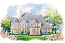 Home Plan - European Exterior - Rear Elevation Plan #20-1184