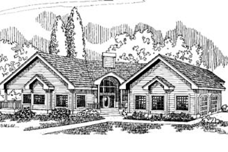 Traditional Exterior - Front Elevation Plan #60-508 - Houseplans.com