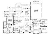European Style House Plan - 4 Beds 3 Baths 2910 Sq/Ft Plan #929-1023 Floor Plan - Main Floor