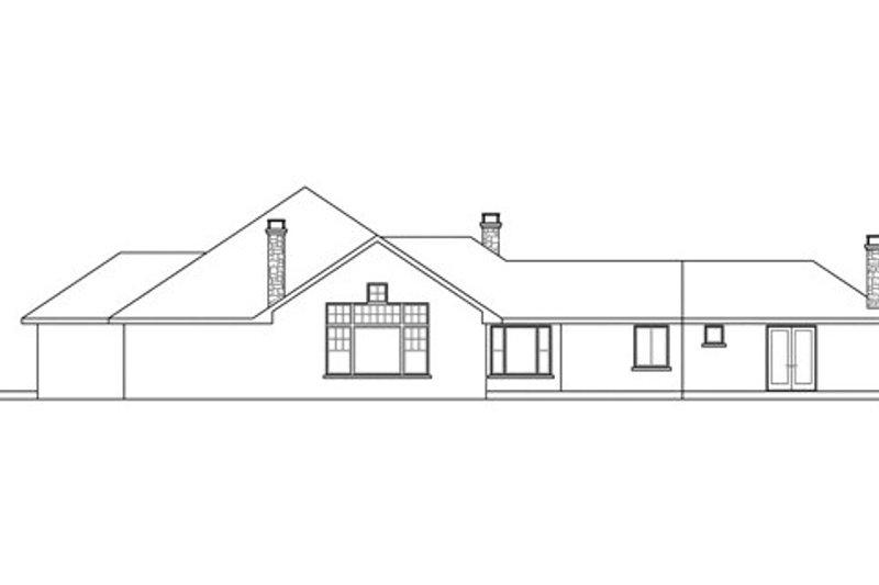 European Exterior - Rear Elevation Plan #124-832 - Houseplans.com