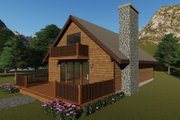 Cottage Style House Plan - 4 Beds 2 Baths 1275 Sq/Ft Plan #57-476 Exterior - Front Elevation