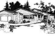 Modern Style House Plan - 3 Beds 2 Baths 1368 Sq/Ft Plan #60-123 Exterior - Front Elevation