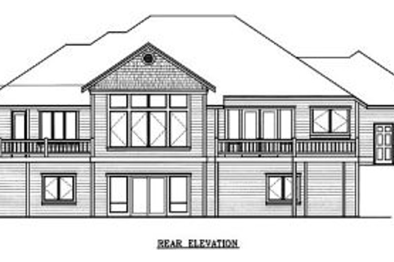 Traditional Exterior - Rear Elevation Plan #100-109 - Houseplans.com