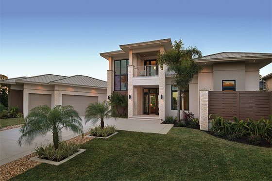 Contemporary Exterior - Front Elevation Plan #930-20