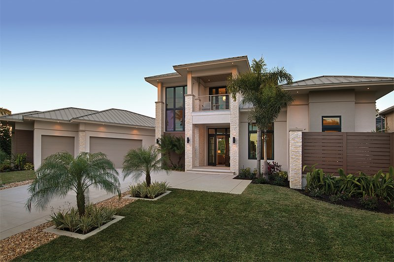Contemporary Exterior - Front Elevation Plan #930-20 - Houseplans.com