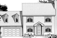 Dream House Plan - Colonial Exterior - Other Elevation Plan #3-137
