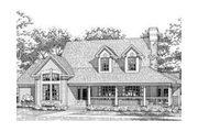Country Style House Plan - 3 Beds 3 Baths 2686 Sq/Ft Plan #120-112 Exterior - Front Elevation