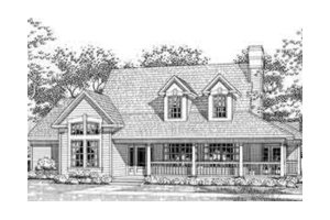 Country Exterior - Front Elevation Plan #120-112