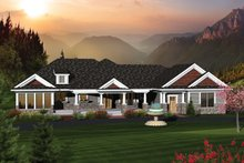 Country Exterior - Front Elevation Plan #70-1051