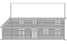 Country Exterior - Rear Elevation Plan #48-176