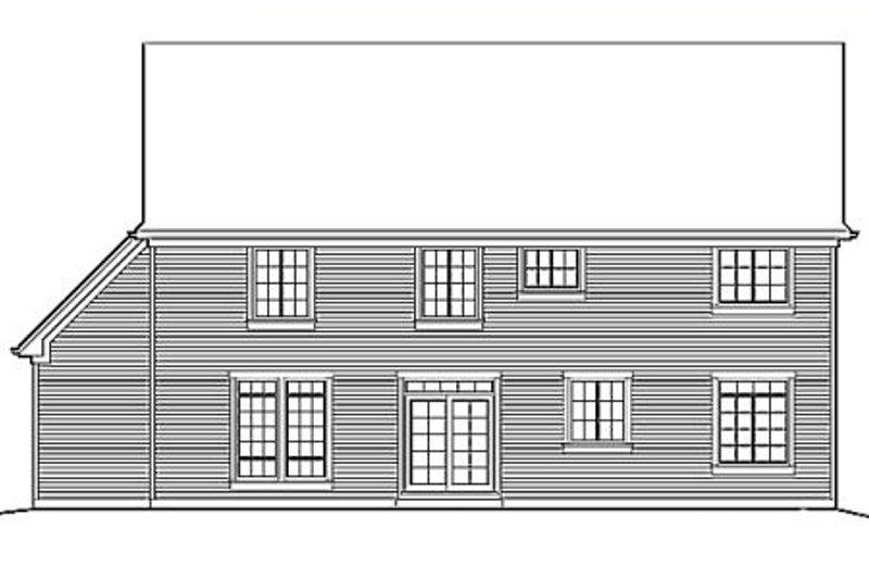Country Exterior - Rear Elevation Plan #48-176 - Houseplans.com