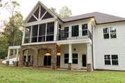 Craftsman Style House Plan - 4 Beds 4 Baths 4140 Sq/Ft Plan #437-116 Exterior - Rear Elevation