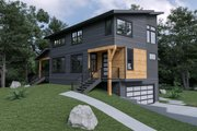 Contemporary Style House Plan - 3 Beds 3.5 Baths 1973 Sq/Ft Plan #1070-62 Exterior - Front Elevation