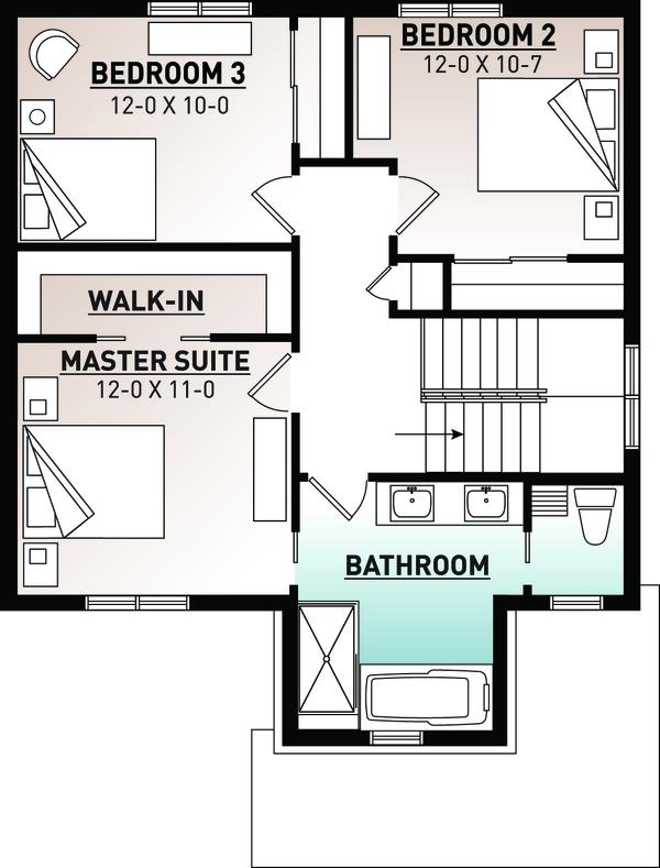 House Plan Design - Craftsman Floor Plan - Upper Floor Plan #23-2643