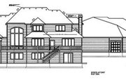 European Style House Plan - 5 Beds 2.5 Baths 3990 Sq/Ft Plan #100-206 Exterior - Rear Elevation