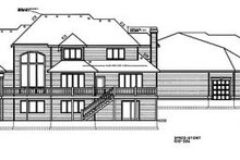 House Plan Design - European Exterior - Rear Elevation Plan #100-206