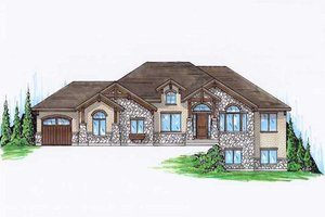 Architectural House Design - Traditional Exterior - Front Elevation Plan #5-283