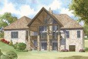 European Style House Plan - 4 Beds 3.5 Baths 3713 Sq/Ft Plan #923-2 Exterior - Rear Elevation