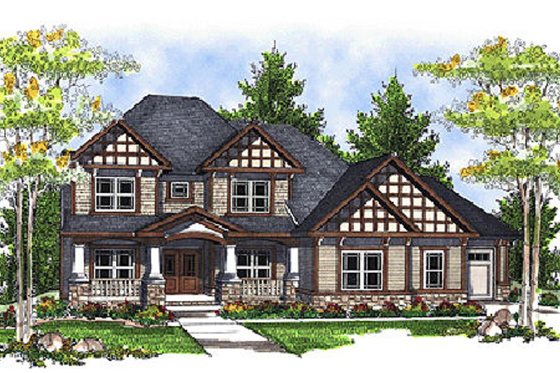 European Exterior - Front Elevation Plan #70-697