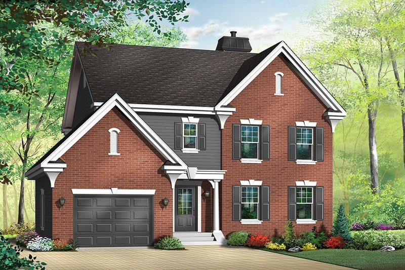 Colonial Exterior - Front Elevation Plan #23-376 - Houseplans.com