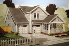 Dream House Plan - Traditional Exterior - Front Elevation Plan #513-13