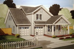 Home Plan Design - Traditional Exterior - Front Elevation Plan #513-13
