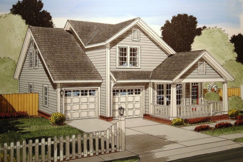 Traditional Exterior - Front Elevation Plan #513-13 - Houseplans.com