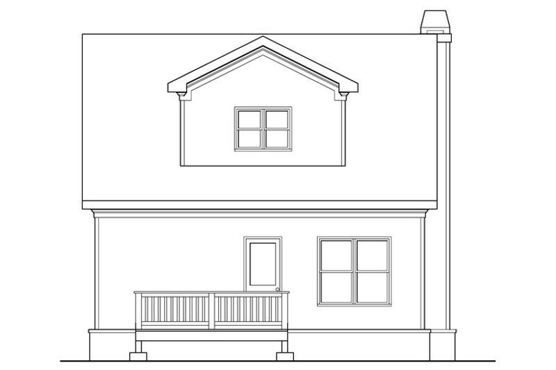 Craftsman Exterior - Rear Elevation Plan #419-254 - Houseplans.com