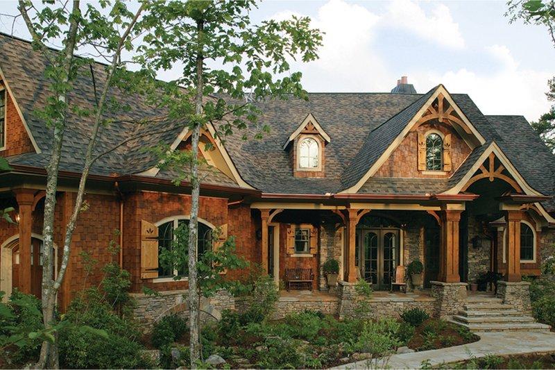House Plan Design - Craftsman Exterior - Front Elevation Plan #54-415