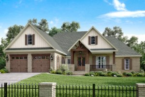Home Plan - Country Exterior - Front Elevation Plan #430-151