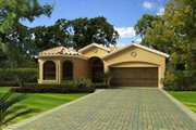 Mediterranean Style House Plan - 4 Beds 3 Baths 1902 Sq/Ft Plan #420-259 Exterior - Other Elevation