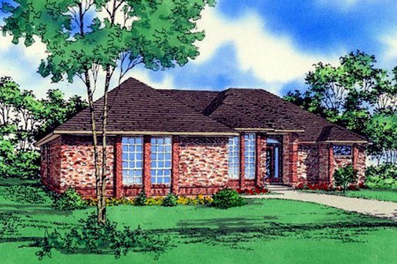 Traditional Exterior - Front Elevation Plan #405-126