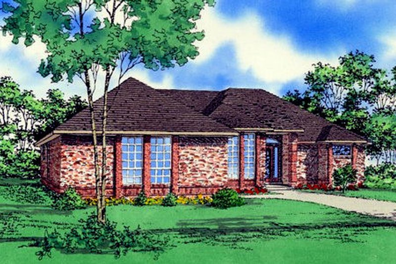 Traditional Style House Plan - 3 Beds 2 Baths 2022 Sq/Ft Plan #405-126
