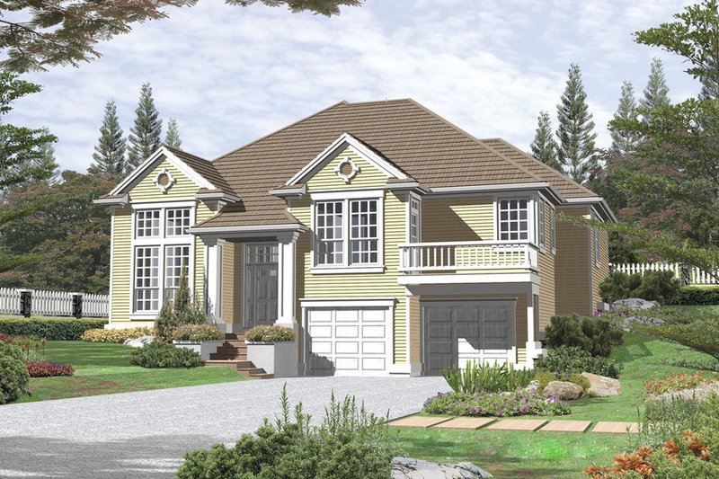 Traditional Exterior - Front Elevation Plan #48-203
