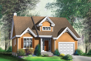 Traditional Style House Plan - 2 Beds 2 Baths 1367 Sq/Ft Plan #25-4118 Exterior - Front Elevation