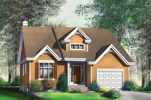 Traditional Exterior - Front Elevation Plan #25-4118
