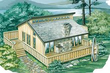 Home Plan - Modern Exterior - Front Elevation Plan #47-102
