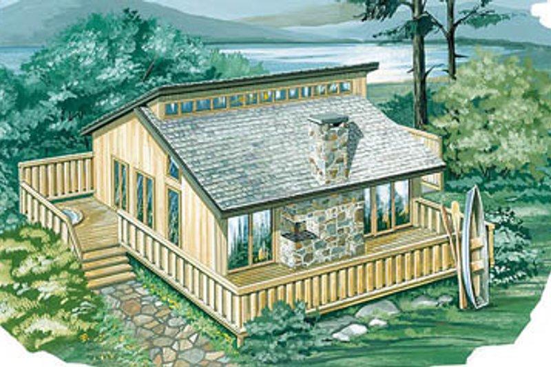 Dream House Plan - Modern Exterior - Front Elevation Plan #47-102
