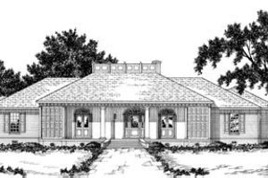 Southern Exterior - Front Elevation Plan #36-251