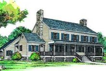 House Plan Design - Colonial Exterior - Front Elevation Plan #72-182