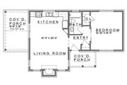 Cottage Style House Plan - 1 Beds 1 Baths 808 Sq/Ft Plan #935-9 Floor Plan - Main Floor Plan