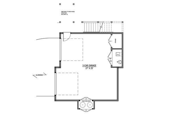 Craftsman Style House Plan - 1 Beds 1 Baths 605 Sq/Ft Plan #899-4 Floor Plan - Main Floor Plan