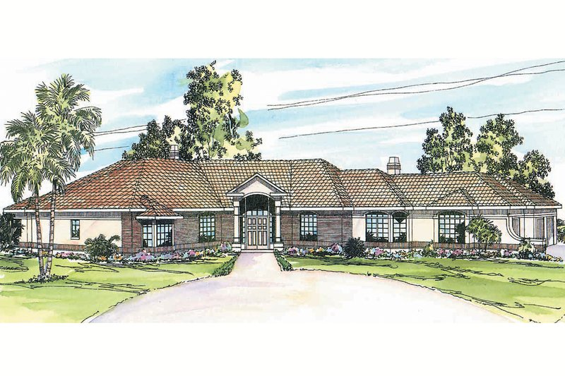 Ranch Exterior - Front Elevation Plan #124-238