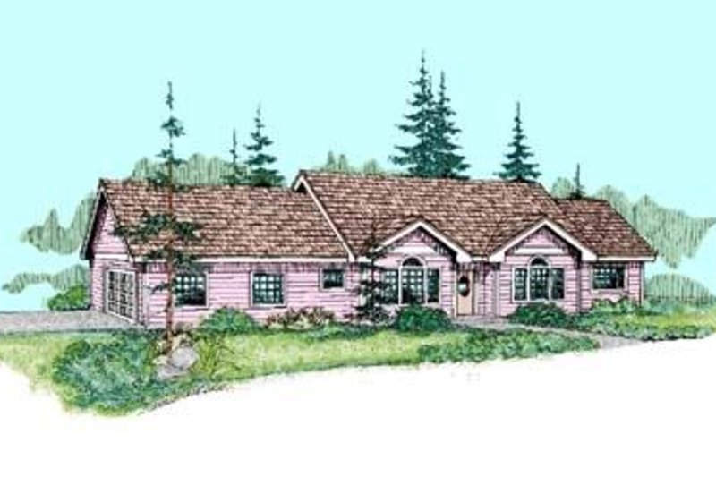 Traditional Exterior - Front Elevation Plan #60-411 - Houseplans.com