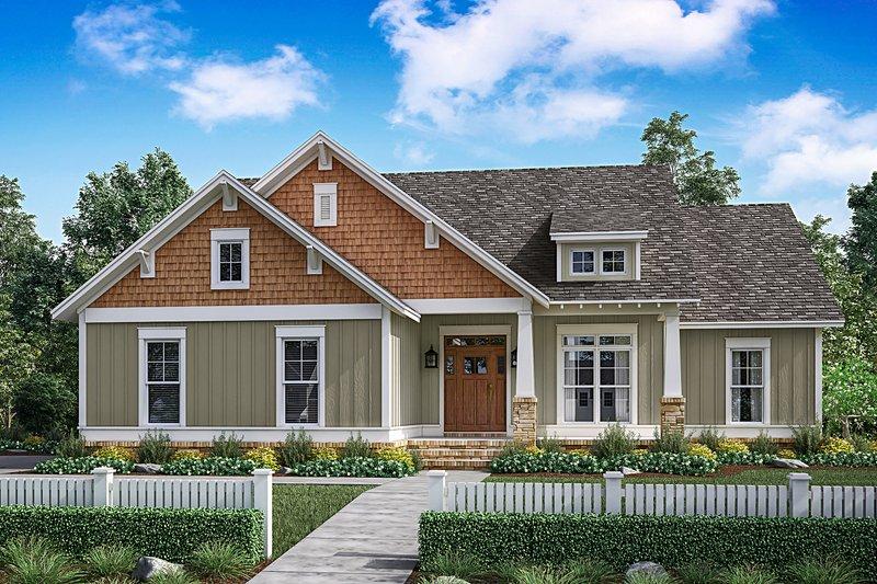 Dream House Plan - Craftsman Exterior - Front Elevation Plan #430-149